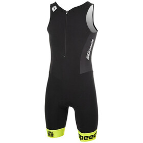 Bioracer Tri Team Suit Men, black-fluo yellow